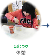 15:00 休憩