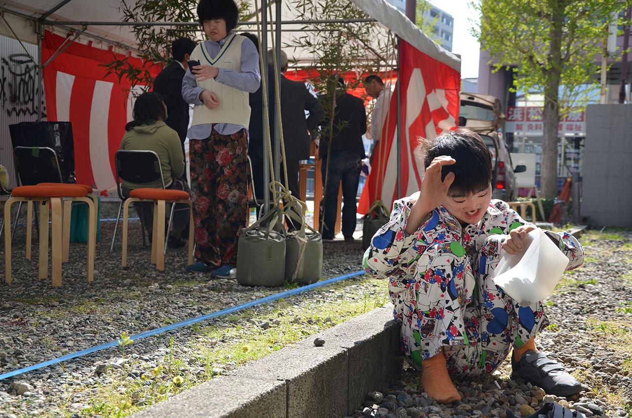 「(仮称)たけし文化センター連尺町」の地鎮祭を執り行いました。
